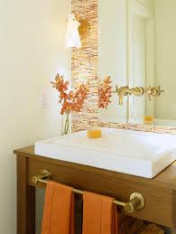 Orangebathroomdecoratingideas Classy Orange Bathroom Decorating Ideas