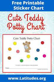 Free Potty Training Chart Cute Teddy Acn Latitudes