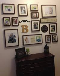 Wall Collage Living Room Photo Collage Wall I Like The Initial And The Other Texture Added