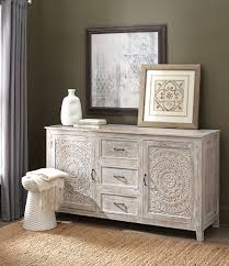 white washed mango wood. A Detailed Design On The Doors Gives It Standout Appeal. Gorgeous Whitewash Finish This Hand-carved Mango Wood Dresser White Washed