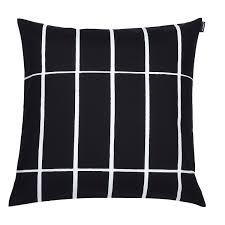 Marimekko Tiiliskivi Black / White Throw Pillow