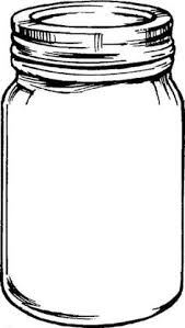 Free mason jar tempplates an ink drawing of a mason jar clipart