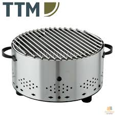 ttm circle inox round table top barbecue bbq stainless steel made in switzerland