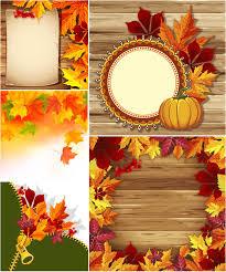fall frames vector
