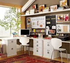home office interiors. Keeping The Home Office Space Crisp And White With This Modern Desk Chair, Amidst Interiors F