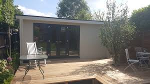 modern garden office. 5.5m X 3.0m Contemporary Garden Office Including Store Room And Grey Anthracite UPVC Windows Modern O