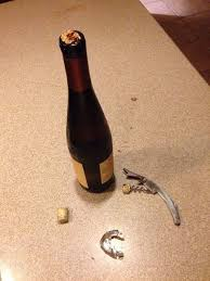broken bottle cork