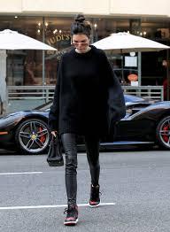 kendall jenner in j brand edita leather leggings