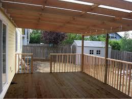 building a patio deck cover