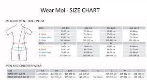Energetiks Size Chart Dancestop