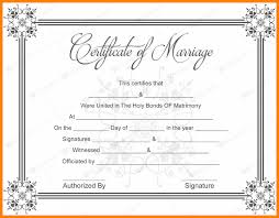 Fake Baptismal Certificate 5 Fake Marriage Certificate Template Free Lbl Home