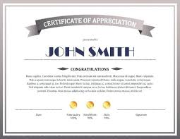 Certificate Of Appreciation Templates Free Download Sample Of Certificates Appreciation Template Certificate Excellence
