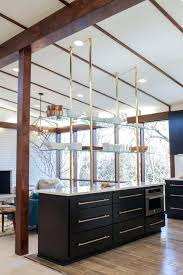 mid century modern kitchen design ideas unique floating glass shelves with ceiling decor and glass wall