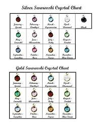 Birthstone Crystals Chart Swarovski Crystal Channel Drop Add On Dii Qqq Extra Charm Additional Birthstone Add Color Silver Gold Month