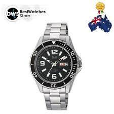 q q men s sport watches new q q by citizen a172 205y 44m black date dial steel strap mens sport watch