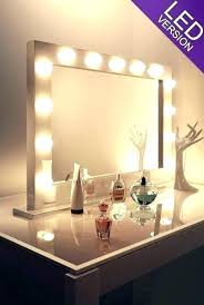 vanity mirror makeup best with light bulbs led for lighted mirrors lighting scenic kit storage makeu