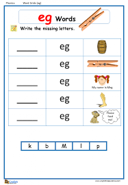 These free phonics worksheets may be used independently and without any obligation to make a purchase, though they work well with the excellent phonics dvd and phonics audio cd programs developed by rock 'n learn. Eg Word Family Worksheets 99worksheets