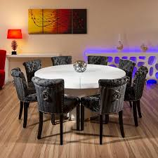 minimalist dining room dining room top modern round table for glamorous large seats white gloss vas paintings blue lamps sidetable wall wooden floor tools