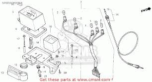 honda xlr f usa speedometer schematic partsfiche speedometer schematic