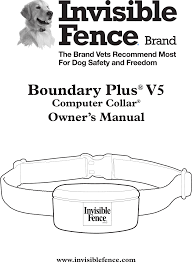 Red Blinking Light On Invisible Fence Collar 3001163 Boundary Plus V5 User Manual Radio Systems
