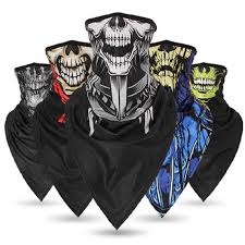 Skull Ghost Scarf Bandage <b>Ice Silk</b> Skeleton <b>Dust proof Breathable</b> ...
