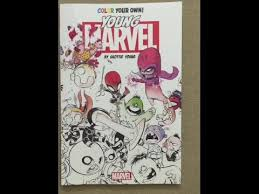 color your own young marvel by skottie young flip through