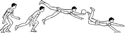 Техника игры в волейбол Книги Библиотека международной  Прием мяча одной рукой в падении вперед на руки с последующим скольжением на груди животе преимущественно применяется в мужском волейболе