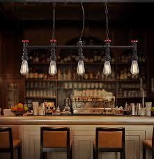 edison style lighting fixtures. Wonderful Fixtures Architecture Retro Loft Style Water Pipe Lamp Edison Pendant Light Fixtures  Regarding Prepare 17 Cheap Mount Intended Lighting U
