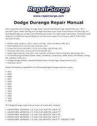 dodge durango repair manual 1998 2011 repairsurge com dodge durango repair manual the convenient online dodge durango repair manual
