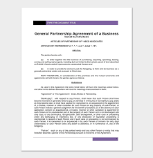 Partnership Agreement Template - 12+ Agreements For Word Doc, Pdf