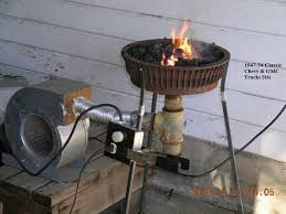 neat idea for a homemade forge using a brake drum as a base
