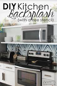 Kitchen Stencil Remodelaholic Diy Kitchen Backsplash Stencil