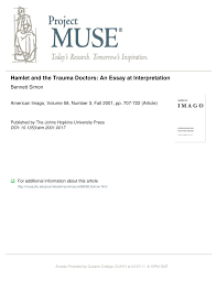 hamlet and the trauma doctors an essay at interpretation pdf  hamlet and the trauma doctors an essay at interpretation pdf available