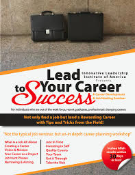 lead your career to success islamic leadership institute of america leading your career flyer