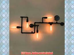 diy pipe lighting. edison light industrial water pipe lamp restoration pendant chandelier lighting diy