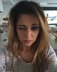 cheryl cole shares no makeup selfie as she joins the cancer awareness caign