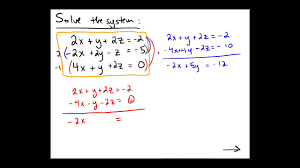 solving a 3x3 system of equations by hand