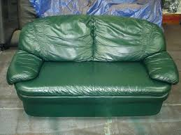 after picture of leather couch red using repair filler and touch up dyes dye leathertouchupdye uk