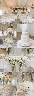 top table decoration ideas. Snowy White Opulent Canada Wedding Top Table Decoration Ideas
