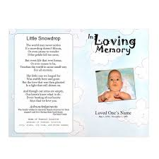 baby pamphlets clouds youth memorial program funeral pamphlets