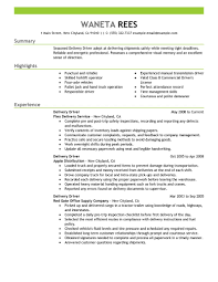 Delivery Driver Resume Sample Driver Resumes Livecareer Logistics