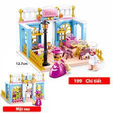 Đồ chơi lego cho bé gái Lego Friends Mẫu Cafe Shop với 199 chi tiết nhựa  ABS | Xếp khối