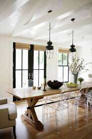 breakfast room furniture ideas. Lucite Ghost Chairs Dining Room With A Farm Table Breakfast Furniture Ideas