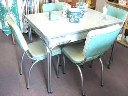 Vintage Formica Table Dining Stance Kitchen White Legs With Grey Top