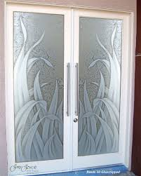 glass front doors glass entry doors sandblast frosted reeds 3d gc tropical entry