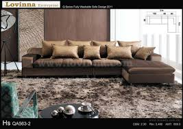 Lovinna L Shape Fabric Sofa - B throughout L Shaped Fabric Sofas (Image 17  of