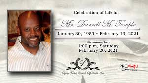Obituary for Mr. Darrell M. Temple   Legacy Funeral Home and Life ...