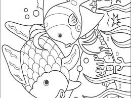 Small Picture The rainbow fish coloring page
