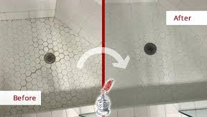 ceramic tile grout cleaner before and after of a ceramic tile shower floor after our tile ceramic tile grout