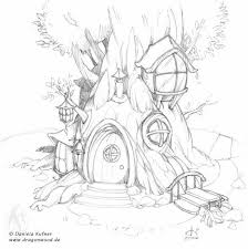 Fairy Tree House Coloring Pages Google Search Fairies
